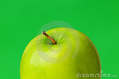 Green apple and juice isolated
