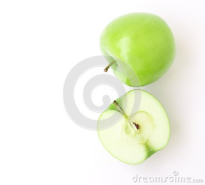 Free Green Apple On White Background, Fruit Healthy Concept Stock Photography - 99864732