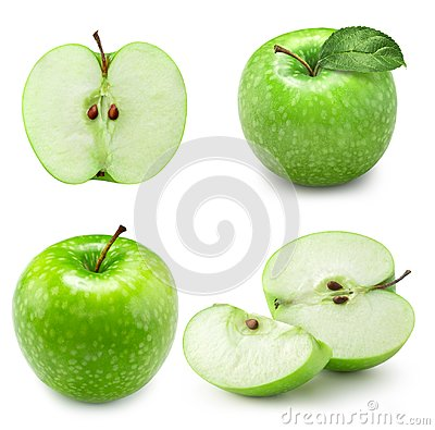 Free Green Apple Slice Collection Royalty Free Stock Photography - 111831047