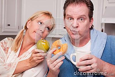Green Apple vs. Donut Healthy Eating Decision