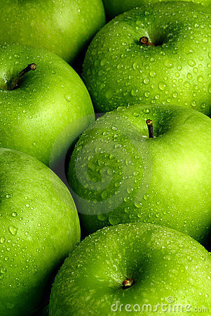 Free Green Apples Background Royalty Free Stock Images - 7085439