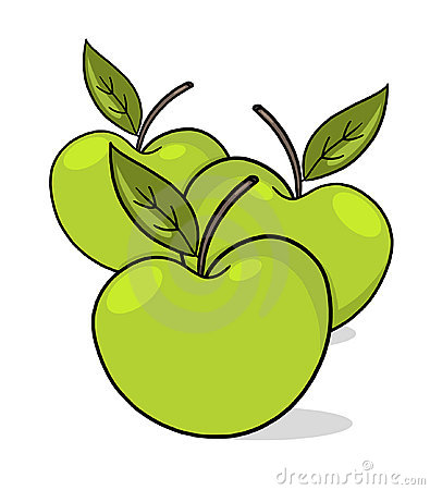 Green apples illustration