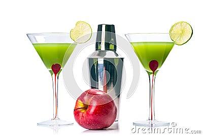 Green Appletini cocktail