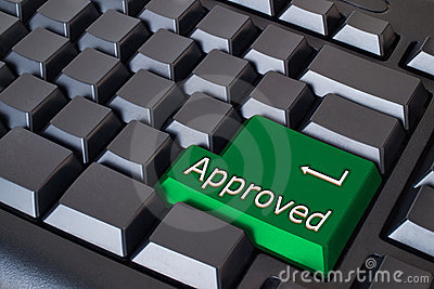 Green approved button