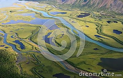Green, arctic delta