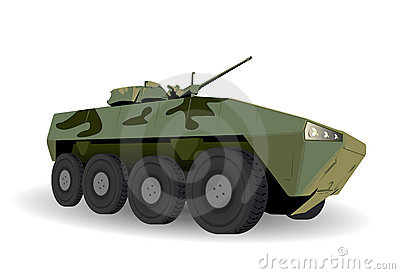 Green Armored Personnel Carrier