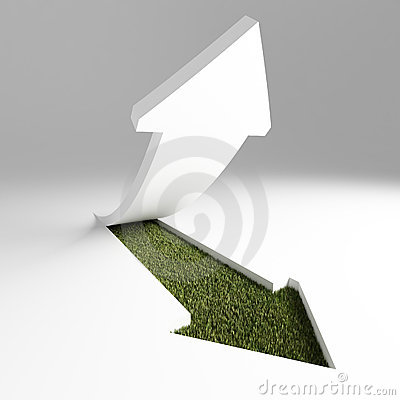 Green Arrow Royalty Free Stock Images - Image: 6731189