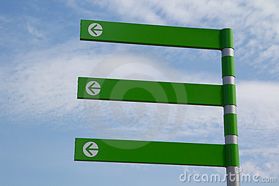Green Arrow Sign