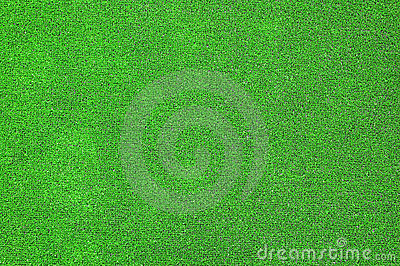 Green artificial grass plat