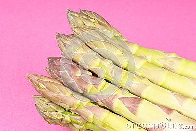 Green asparagus close-up