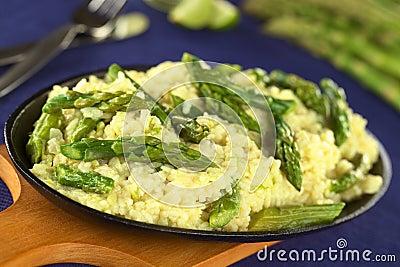 Green Asparagus Risotto