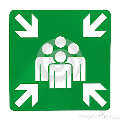 Free Green Assembly Point Sign Royalty Free Stock Photos - 31456978
