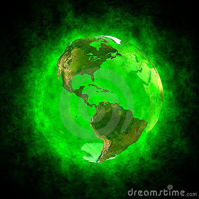 Free Green Aura Of Earth - America Royalty Free Stock Photography - 24148897