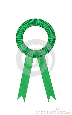Green award ribbons badge