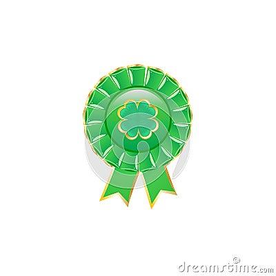 Green award rosette.