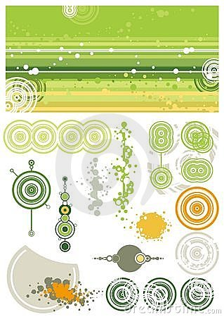 Free Green Background And Design Elements Royalty Free Stock Photos - 1464038
