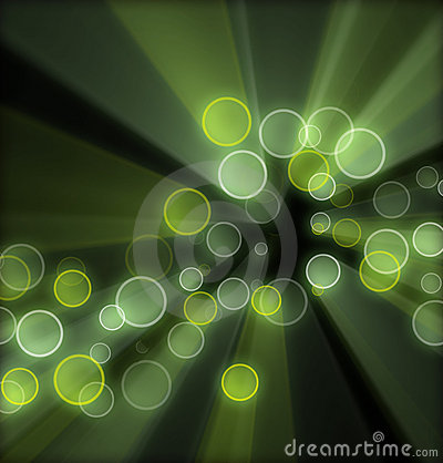 Green background circles