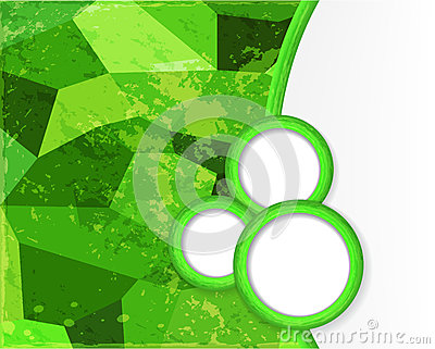Green background with circles in grunge style.