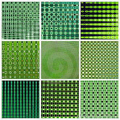 Green background - collage