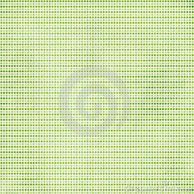 Green background with dotes