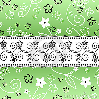 Green background with a horizontal stripe