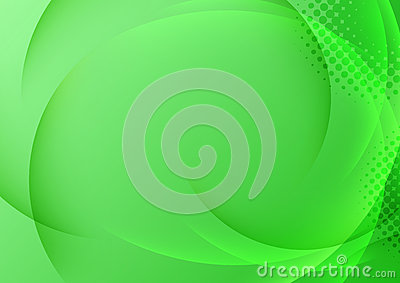 Green background with transparent waves