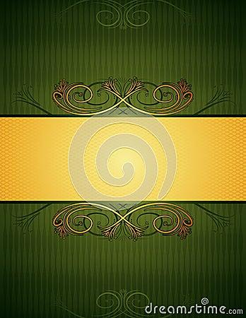 Green background, vector