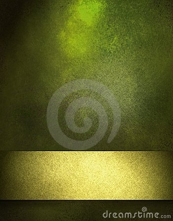 Free Green Background With Gold Ribbon Stock Photos - 23559963