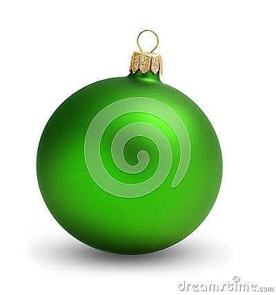 Free Green Ball Christmas Royalty Free Stock Image - 11697086