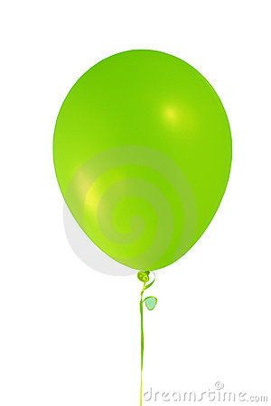 Free Green Balloon Royalty Free Stock Photo - 1369915