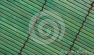 Green bamboo placemat