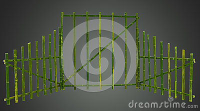 Green bamboo screen