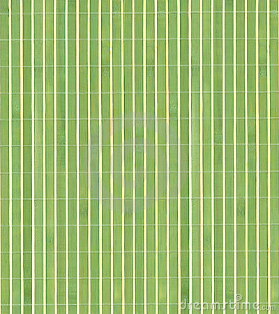 Green bamboo wood background.