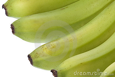 Green Bananas Isolated