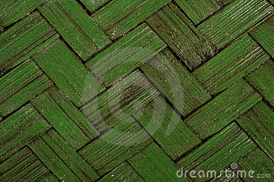 Green basket weave texture - background