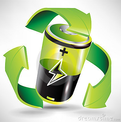 Green battery recycling concept