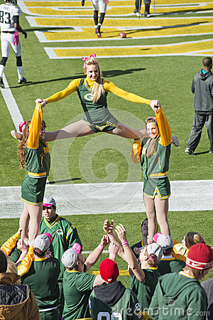 Green Bay Packers Cheerleaders at Lambeau Field Editorial Image