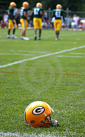 Free Green Bay Packers Helmet Royalty Free Stock Photography - 8224057