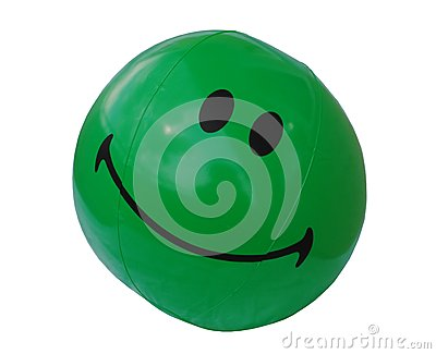 Green Beach Ball