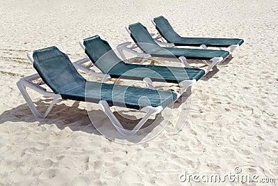 Green Beach Chairs