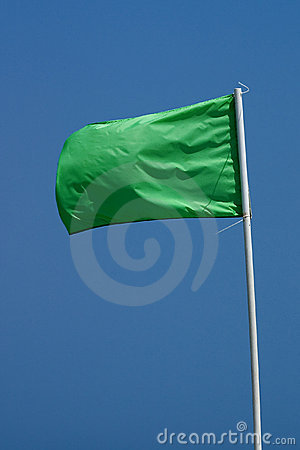 Green Beach Flag