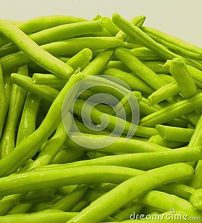 Green bean close-up