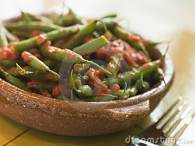 Green Beans with a Tomato Salsa