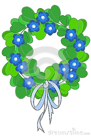 Green beauty chaplet - Vector