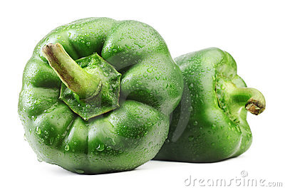 Green bell pepper.
