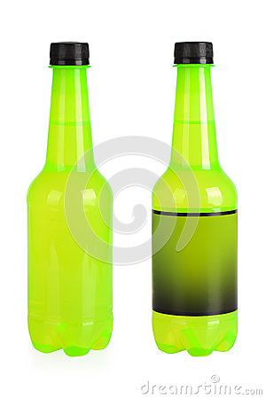 Green beverage bottles
