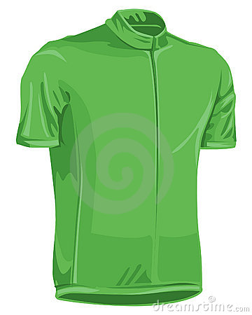 Green bicycle jersey