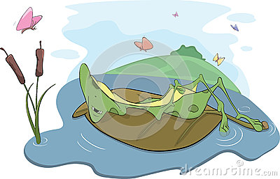 Green Big Frog. Cartoon Royalty Free Stock Photos - Image: 29081758