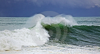 Green big wave
