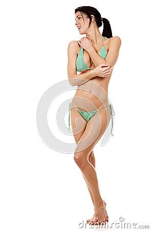 Green bikini
